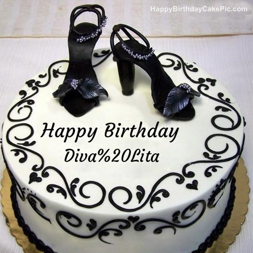 Fashion Happy Birthday Cake For Diva Lita