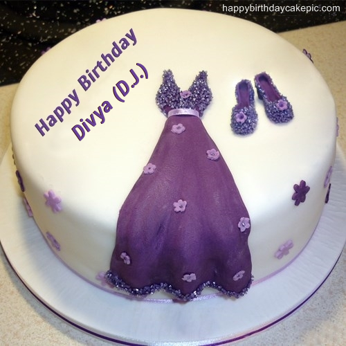 Images Of Birthday Cake With Name Divya : Dress Birthday Cakes for Girls For Divya (D.J.)