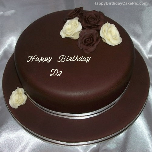 Rose Chocolate Birthday Cake For Dj