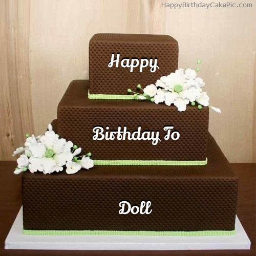 Chocolate Shaped Birthday Cake For Doll