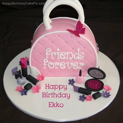 Pleasing Fashion Birthday Cake For Ekko Personalised Birthday Cards Veneteletsinfo