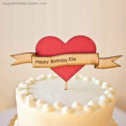 write name on Heart Happy Birthday Cake