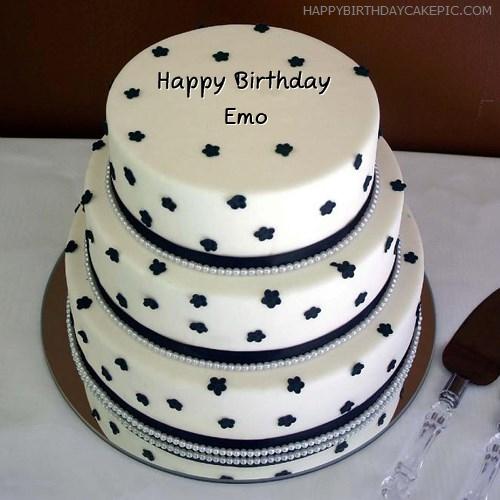 Swell Layered Birthday Cake For Emo Personalised Birthday Cards Akebfashionlily Jamesorg
