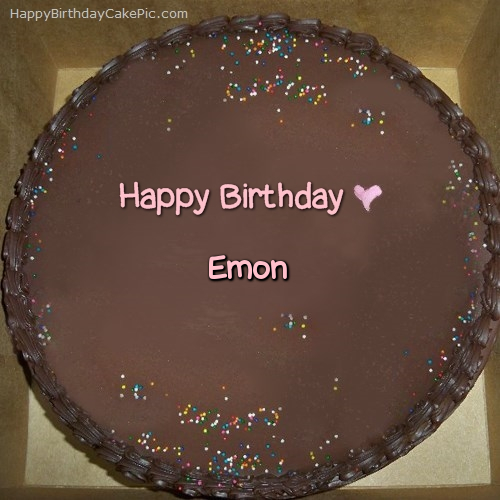 write name on Chocolate Happy Birthday Cake