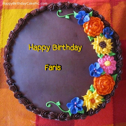 Cool Awesome Flower Birthday Cake For Faris Funny Birthday Cards Online Sheoxdamsfinfo