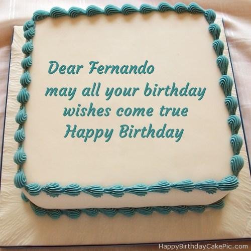 ️ Happy Birthday Cake For Fernando