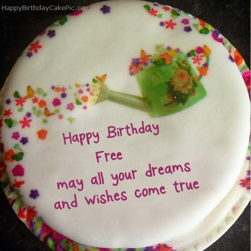 write name on Wish Birthday Cake