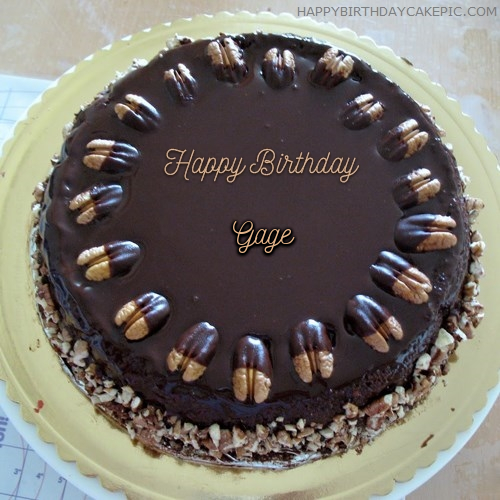 gage name. write name on nuts birthday cake gage