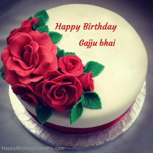 Birthday Cake Images With Name Dinesh : Roses Birthday Cake For Gajju bhai