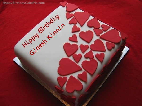 Birthday Cake With Name Ganesh ~ Birthday wish beautiful cake for ganesh kannan