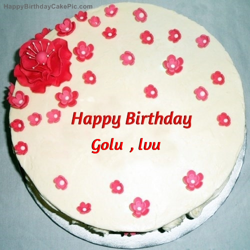 Images Of Cake With Name Golu : Fondant Birthday Cake For Golu , lvu