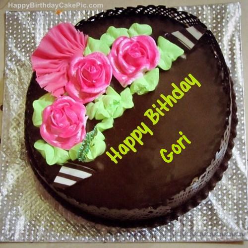 Cake Images With Name Gauri : Chocolate Birthday Cake For Gori