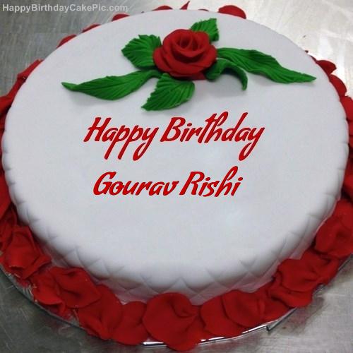 Cake Images Son : Red Rose Birthday Cake For Gourav Rishi