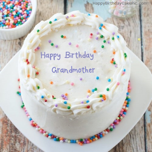 Prime Sprinkle Birthday Cake For Grandmother Funny Birthday Cards Online Kookostrdamsfinfo