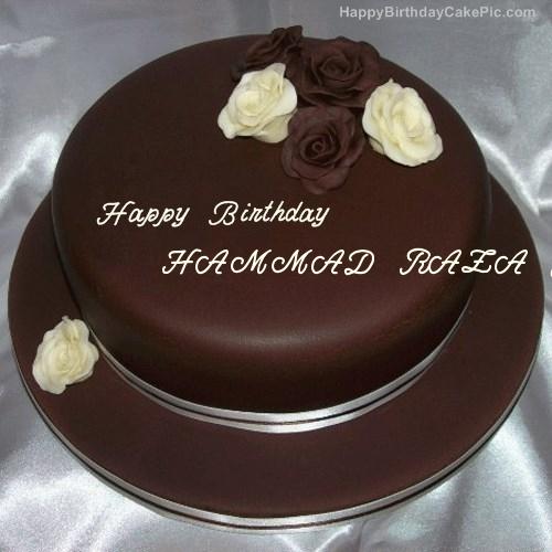 Rose Chocolate Birthday Cake For HAMMAD RAZA JEE