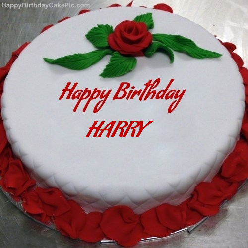 Red Rose Birthday Cake For HARRY