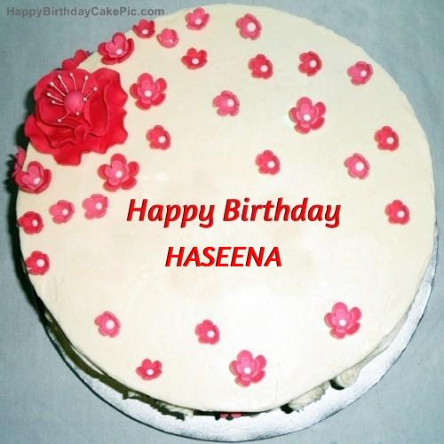 Birthday Cake Images With Name Bittu : Fondant Birthday Cake For HASEENA