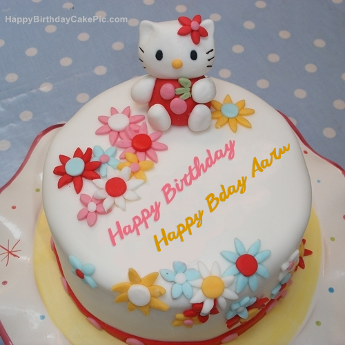 hello kitty birthday cake for happy bday aaru