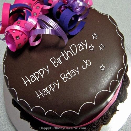 Happy Birthday Chocolate Cake For Happy Bday Jo