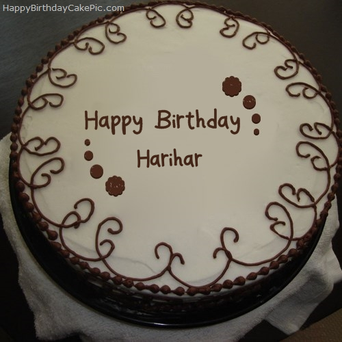write name on Border Chocolate Cake
