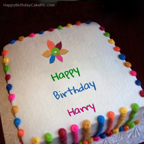 Colorful Birthday Cake For Harry