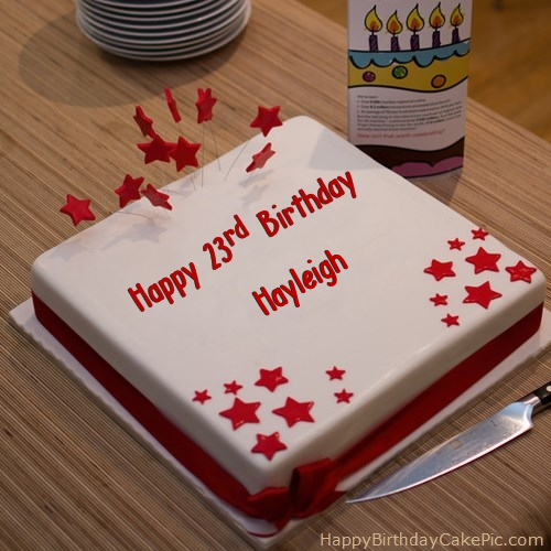 write name on Red 23rd Happy Birthday Cake