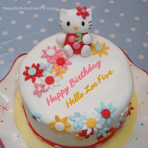 ️ Hello Kitty Birthday Cake For Hello Zoe Five