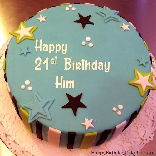 Elegant 21st Birthday Cake For Him