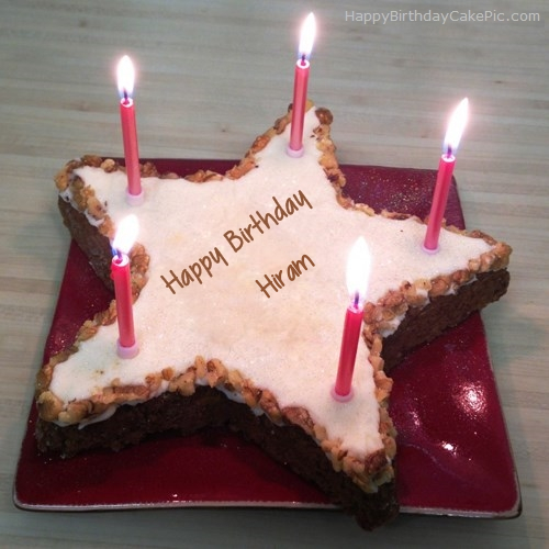 write name on Star Birthday Cake