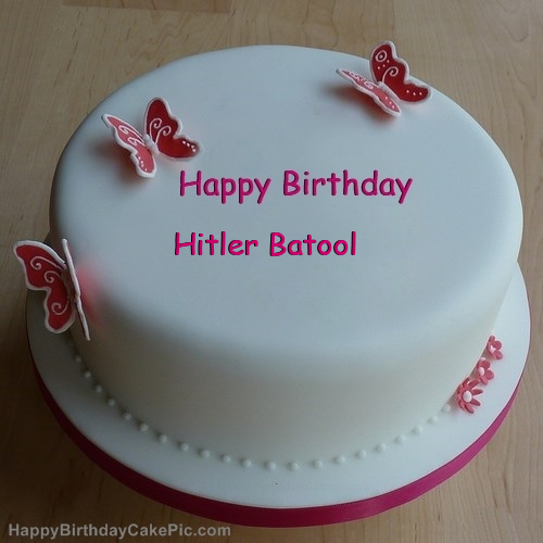Incredible Butterflies Girly Birthday Cake For Hitler Batool Birthday Cards Printable Riciscafe Filternl