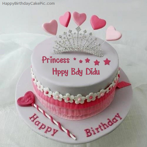 Princess Birthday Cake For Hppy Bdy Didu