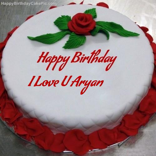 Images Of I Love U Cake : Red Rose Birthday Cake For I Love U Aryan