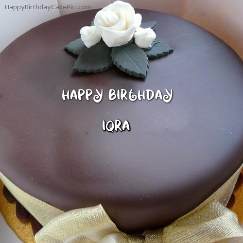 Beautiful Chocolate Birthday Cake For Iqra