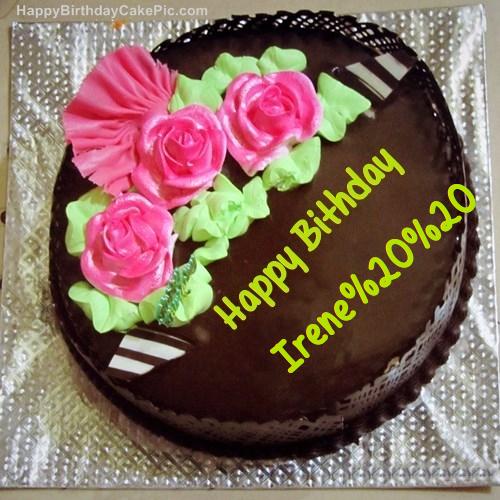 Chocolate Birthday Cake For Irene