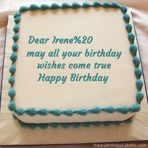Happy Birthday Cake For Irene