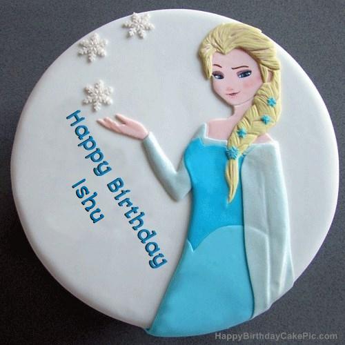 Frozen Elsa Birthday Cake For Ishu
