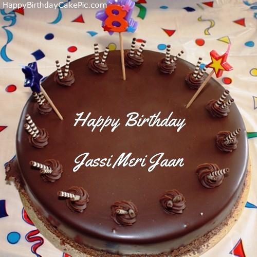 8th Chocolate Happy Birthday Cake For Jassi Meri Jaan