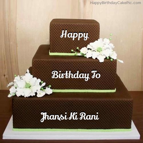 chocolate shaped birthday cake for jhansi ki rani on birthday cake ki photos