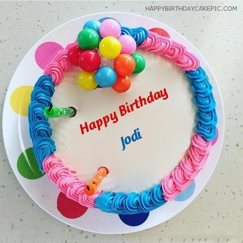 ️ Colorful Happy Birthday Cake For Jodi