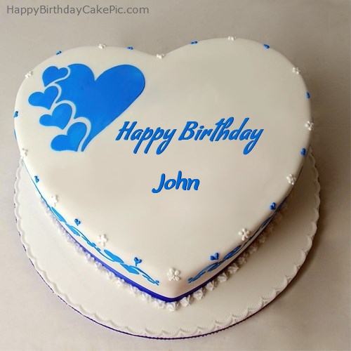 Tremendous Happy Birthday Cake For John Personalised Birthday Cards Paralily Jamesorg