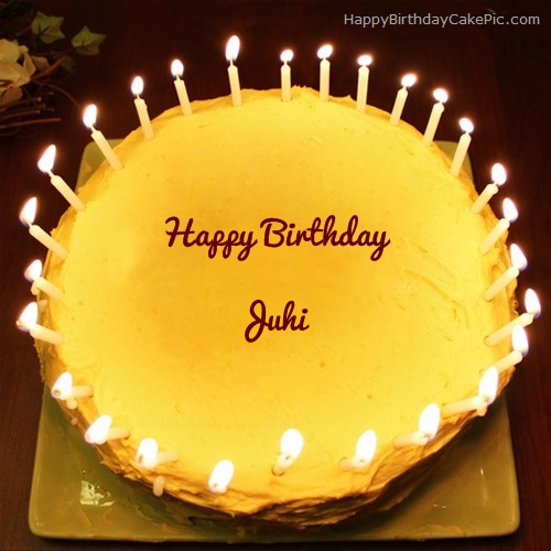 Chocolate Birthday Cake With Name And Candles