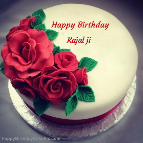 Roses Birthday Cake For Kajal Ji