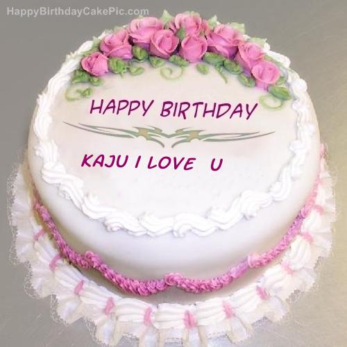 Images Of I Love U Cake : Pink Rose Birthday Cake For Kaju i love u