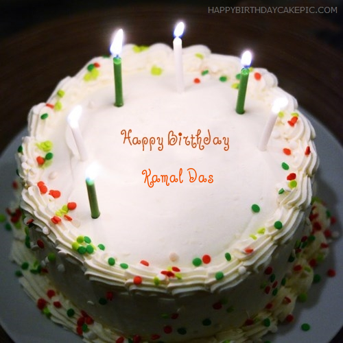 Birthday Cake Images With Name Komal : Birthday Cake With Candles For Kamal Das