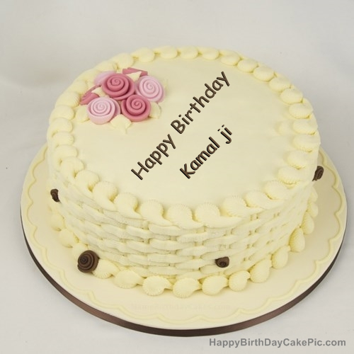 Birthday Cake Images With Name Komal : Happy Birthday Cake for Girls For Kamal ji