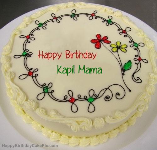 Cake Image Name Kapil : Birthday Cake For Kapil Mama