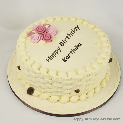 Happy Birthday Cake For Girls For Karthika