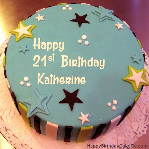 ️ Elegant 21st Birthday Cake For Katherine