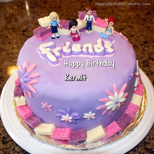 Fantastic Friendship Birthday Cake For Kermit Funny Birthday Cards Online Sheoxdamsfinfo