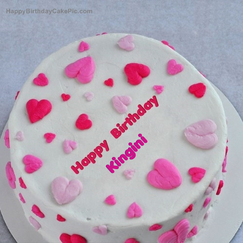 Little Hearts Birthday Cake For Kingini